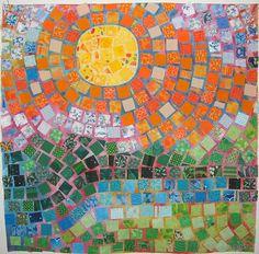 Mosaic quilt by Pamela Carpenter