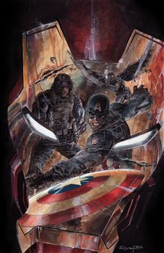 Captain America: Civil War - Iron Man, Captain America, Bucky Barnes, and The Falcon by Ardian Syaf *