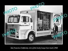 OLD LARGE HISTORIC PHOTO OF SAN FRANCISCO LUCKY LAGER BEER TRUCK c1960, CA in Collectables, Historical Memorabilia, Other Historical | eBay