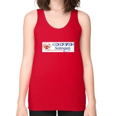 Dovo Logo Unisex Fine Jersey Tank (on woman)