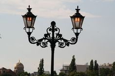 old fashioned street lights