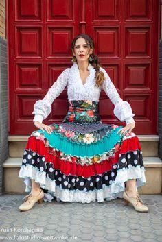 Flamenco skirt for dancing or feria Flamenco Skirt, Flamenco Dancers, Spanish Style, Your Style, Shabby Chic, Costumes, Boho, Womens Fashion, Dancing