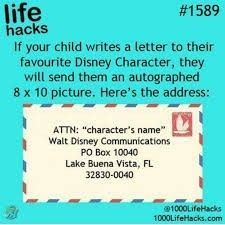 Write a letter to favorite Disney character