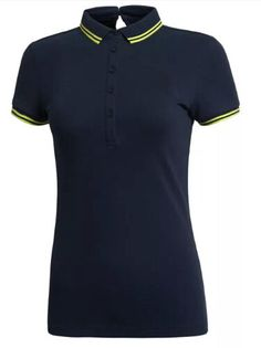 hot sell solid color woman pique polo shirt