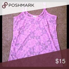 Super sexy and cute lavender lacy tank! Gianni Bini lacy tank in lavender 😍😍 Gianni Bini Tops Tank Tops