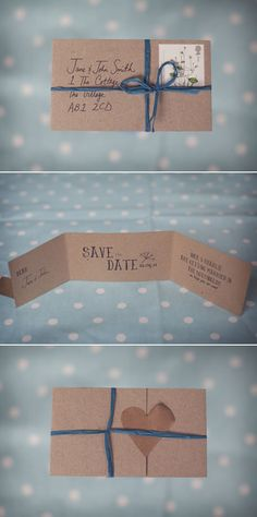 handmade rustic 'save the date' cards.. do these up little more, but love the idea.