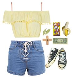 """""""nymphet"""" by naughty-nymphets ❤ liked on Polyvore featuring L'Agent By Agent Provocateur, Topshop, Converse, Carmex, FRUIT, Summer and nymphet"""