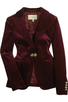 Classic Red Velvet Blazer (which I would never spend this much $ on)
