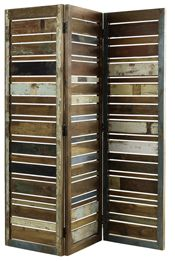 room divider... cool if using barn wood