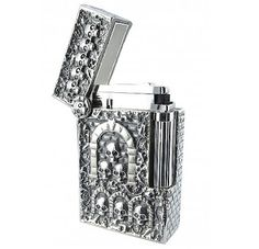 Silver Catacombs Lighter | S.T. Dupont