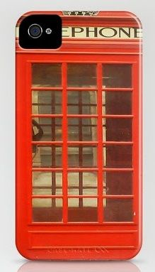 London Telephone Red Booth  iphone cover