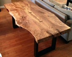 Live Edge Spalted Maple Dining Table By KHeatonDesign On Etsy