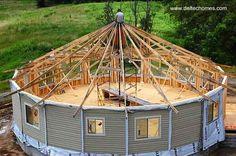 Arquitectura de Casas: Casas modernas redondas en los Estados Unidos.