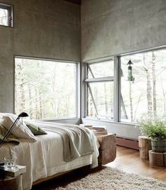 I love masculine rooms decorated with natural materials like linen, wood and stone. Add the simple beauty of wabi sabi design and you'll cre...