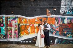 Awesome, Super Cool Couples Alternative wedding photography of newly wed couples in love, capturing those precious moments as featured on www.mrandmrsuniqueweddingblog.co.uk Graffiti, Shoreditch Warehouse wedding