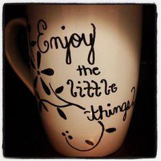 Sharpie designed coffee mug