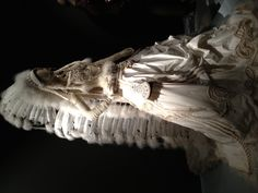 Wedding gown with Indian headdress snapped at the de Young Museum exhibit on Jean Paul Gaultier