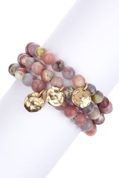mariechavez Pink Lepidolite Charm Bracelet Set on HauteLook
