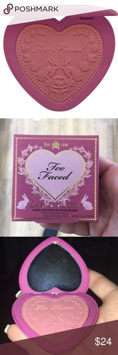 Too Faced Love Flush Blush Your Love is King Too Faced Love Flush Blush new in box. Blush all day and night with the flush of true love. The long-wear, fade-proof, smudge-proof formula keeps your cheeks perfectly flushed for up to 16 hours.  Why you'll blush over it: •Longwear, fade-proof, smudgeproof formula keeps cheeks flushed for up to 16 hours. •Buttery soft pigments bond with skin and take on a weightless, suspended look. •Rich, pigmented shades offer unabashedly bold color…