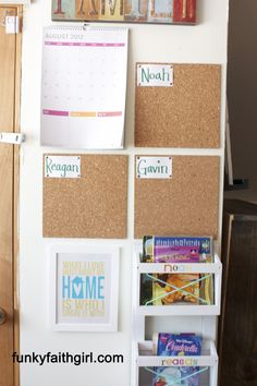 Love this DIY CommandCenter for your Family and school stuff, page has step by step instructions