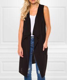 Black Sleeveless Duster Wear this anytime anywhere   #fashion #sleeveless #womensfashion #ad