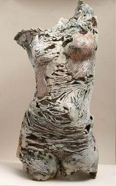 Pauline Lee, Paperclay textured and pierced. Applications of stains and oxides and fired to 2200 degrees C