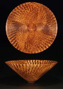 """*Wood Sculpture - """"Zebrawood Bowl"""" by Mike Shuler"""
