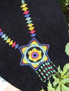 Handmade with Glass Beads Necklace Huichol Jewelry by RanchoAlpino