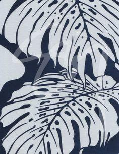 monstera deliciosa printed fabrics | Sig Zane Designs: Monstera: Relief