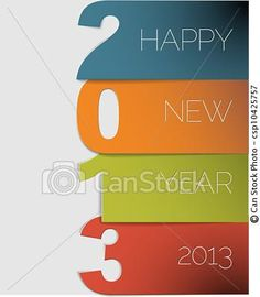 Vector - Happy New Year 2013 vector card - stock illustration, royalty free illustrations, stock clip art icon, stock clipart icons, logo, line art, EPS picture, pictures, graphic, graphics, drawing, drawings, vector image, artwork, EPS vector art