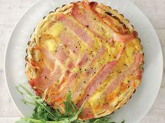 Spekvleis-quiche (Bacon quiche)