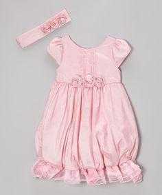 Pink Ruffle Bubble Dress & Headband - Infant, Toddler & Girls
