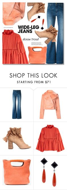 """""""Flare Up: Wide-Leg Jeans"""" by svijetlana ❤ liked on Polyvore featuring Diane Von Furstenberg, See by Chloé, Simon Miller, Pampillonia, denimtrend and widelegjeans"""