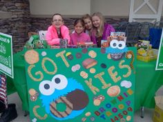 Troop 15409 at their Girl Scout Cookie Booth | #BlingYourBooth #GirlScoutCookies
