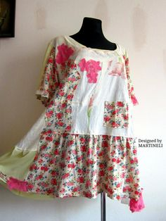 216ec5dcf29 XXL Hippie Boho Tunic Upcycled Clothing Patchwork Dress Plus Size Upcycled  Gypsy Dress Trendy Plus Size Boho Gypsy Clothing Plus Size Hippie