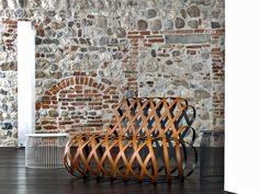 Poltrona in acciaio rivestito in pelle per contract ARIA by La Cividina | design Antonio Rodriguez
