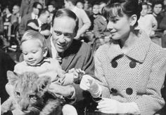 Audrey Hepburn with then husband Mel Ferrer & their son Sean