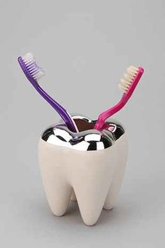 Tooth Toothbrush Holder - Urban Outfitters, Would this make a good gift? http://keep.com/tooth-toothbrush-holder-urban-out-by-caramelzoe/k/1BKOXrABKd/