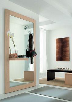 Modern előszobafal - www.montegrappamoblili.hu Oversized Mirror, Entrance, Shelves, Interior, Furniture, Design, Home Decor, Mirrors, Google