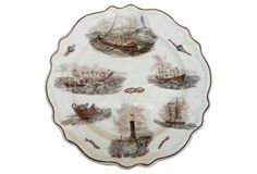 French Boat & Lighthouse Wall Plate