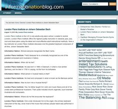 London Piano Institiute - Informationationblog