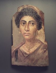 Brooklyn Museum: Egyptian, Classical, Ancient Near Eastern Art: Funerary Portrait of a Woman Egyptian Mummies, Egyptian Art, Post Mortem, Rome Antique, Roman Art, Art Moderne, Ancient Artifacts, Ancient Rome, Art History