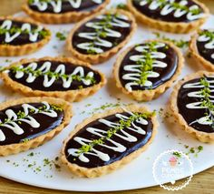 [ Coffee And Chocolate Mini Tart - Pink CupCake Tart Recipes, Sweet Recipes, Moroccan Desserts, Cheese Tarts, Mini Tart, Recipe Mix, Sweet Sauce, Turkish Recipes, Biscuit Recipe