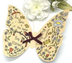 Excited to share this item from my #etsy shop: Christian Gift - Handmade Bible Verse 3D Butterfly Revelation 22 v 17 Card With Envelope, Bookmark Friend Of God, Revelation 22, Gift Envelope, Butterfly Wall Art, 5 Gifts, Glue Dots, Christian Gifts, Bible Verses, Butterflies