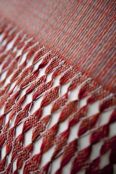 Hand woven ikat cotton traditional rebozo pillows with fringe (detail)
