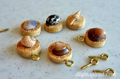 #DIY #Recycled Wine Cork Wine Charms