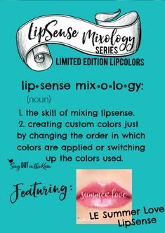 Summer Love is a Limited Edition lipcolor by SeneGence.  Mixing LipSense Colors can be referred to as Mixology.  No matter whether layering or creating mixed combos with layers of Limited Edition LipColors - this allows the user to come up with custom lipstick mixes.  #lipsense #lipsensemixology #summerlovelipsense #summerlove #hawaiiancollection