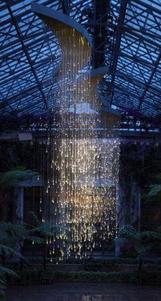 Bruce Munro light installation at at Longwood Gardens, Kennett Square, PA. (30 miles from Philadelphia).