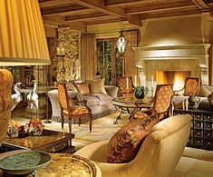 Old World Nothing short of magnificent, this Old World living room pulls in elegant, Italian-inspired design elements to create an over-the-top and illustrious gathering spot. Description from pinterest.com. I searched for this on bing.com/images