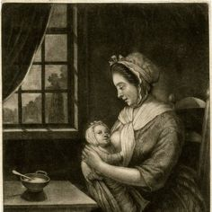 18th Century Mother nursing baby